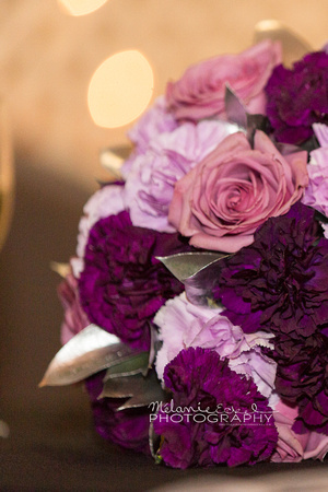 Wedding photography details - Purple bouquet for a stunning Drayton Valley bride