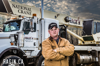 Rage'n oilfield Crane and owner operator photo business headshot