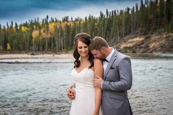 bride and groom, rural alberta wedding